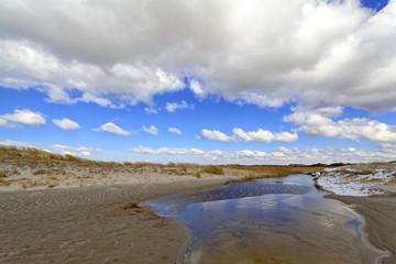 Wolken, Dünen, Priele