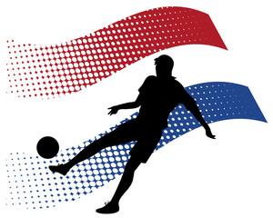 netherlands soccer player against national flag