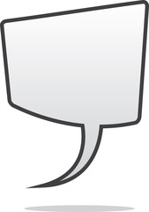 Isolated blank floating speech bubble