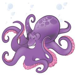 Cute Octopus Character.