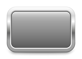 Rectangular template - light gray metallic button