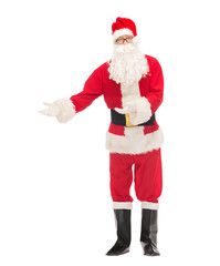 man in costume of santa claus