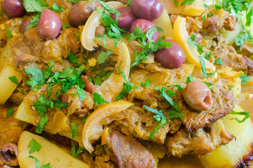 traditional maroccan lemon and lamb tagine