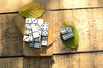 Wooden dominoes set