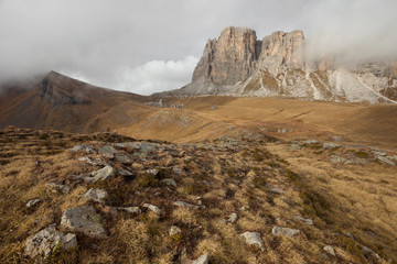 Cloudy fall in Mondeval, Dolomites