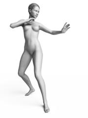 3d rendered illustration of a white female