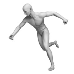 3d rendered illustration of a white man