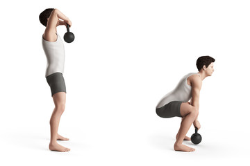 kettlebell exercise - high pull