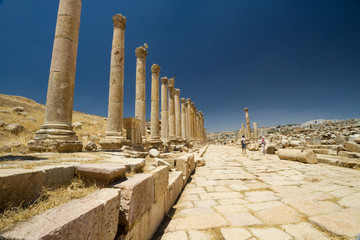 Main road, Jerash, Jordan