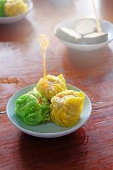 dumpling on the dish