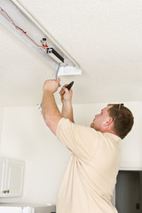 Installing Fluorescent Lighting Fixture