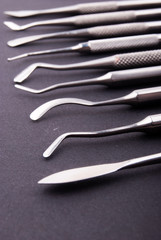 close up dental instruments.