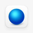 Sphere App icon. Isolated vector - 71503614
