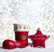 canvas print picture - christmas background