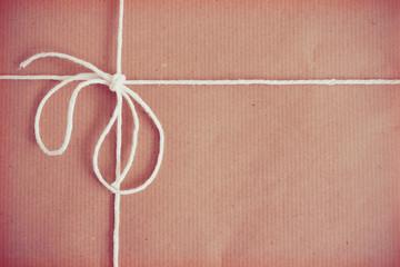 Vintage parcel background texture