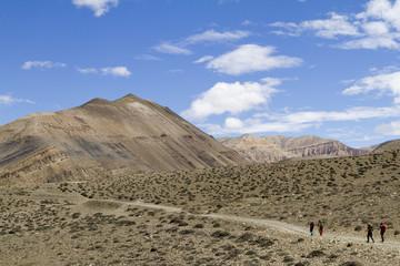 trekking in mustang, nepal