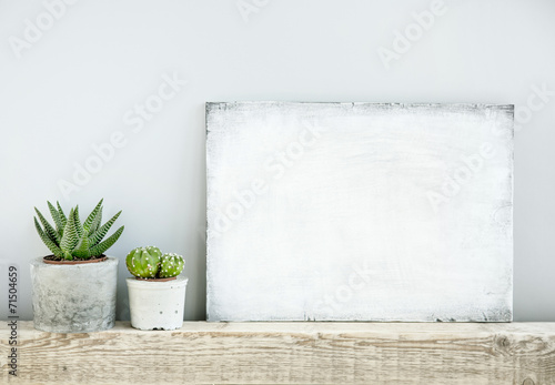 scandinavian or american style room interior with painted frame