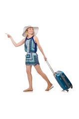 Woman travelling on summer vacation
