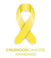 childhood cancer ribbon
