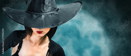 Beautiful Halloween witch - 71505293