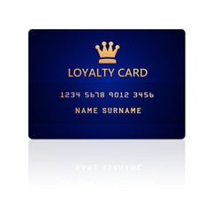 loyalty card isolated over white