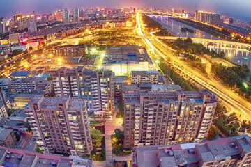 Taiyuan city night view