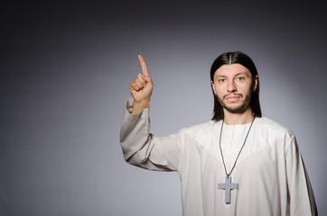 Priest man in religious concept