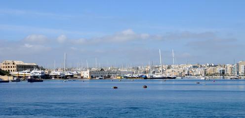 Malta, the picturesque bay of Valetta