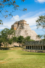 Remains of the Mayan empire. City hidden in the jungle