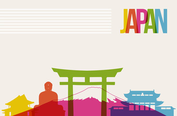 Travel Japan destination landmarks skyline background