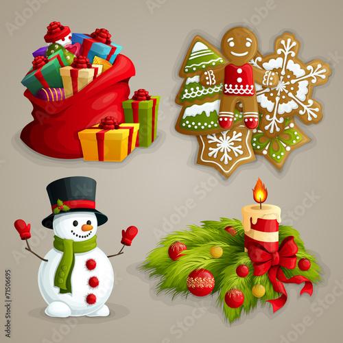 Christmas icons set - 71506695