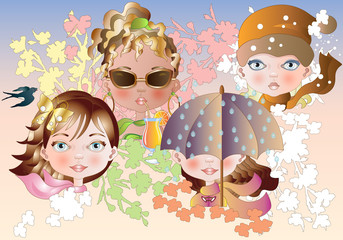Poster Quattro Stagioni-Four Seasons