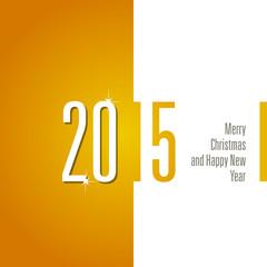2015 orange white background vector