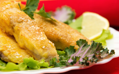 Delicious spiced catfish