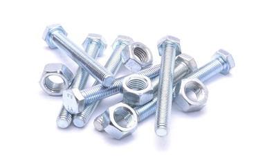 Steel bolt and screw nuts