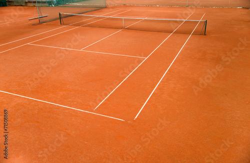 Leinwanddruck Bild Tennisplatz