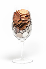 Coins and Glass
