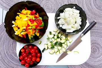 Gemüsesorten  in Schalen