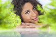 Natural Health Concept Beautiful Woman Smiling