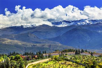 Alhambra Farm Mountains Granada Andalusia Spain