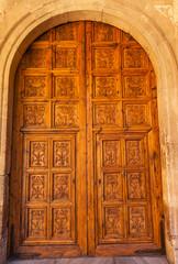 Alhambra Wooden Ornate Door Granada Andalusia Spain