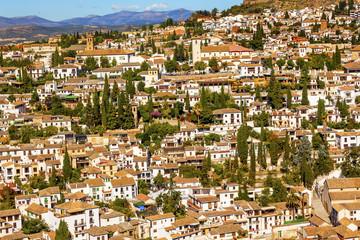 White Cityscape Albaicin Carrera Del Darro Granada Andalusia