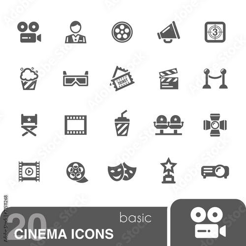 Cinema icons set.