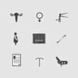 Постер, плакат: Icons for gynecology