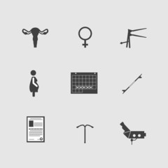 Icons for gynecology