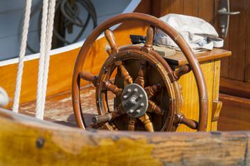 Single wooden steering wheel