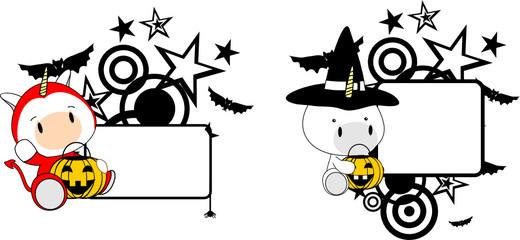 halloween costume unicorn baby cartoon