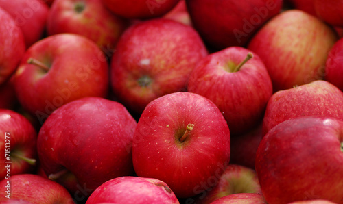 Deurstickers Vruchten Red delicious apple