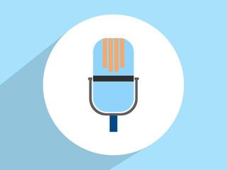 Microphone ,Flat design style