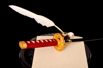 Quill Parchment Sword